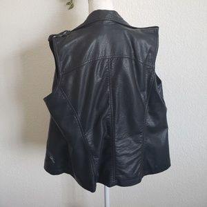 Maurices Jackets & Coats - Maurices Black Faux Leather Lined Vest 2X